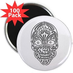 "Tribal Skull 2.25"" Magnet (100 pack)"