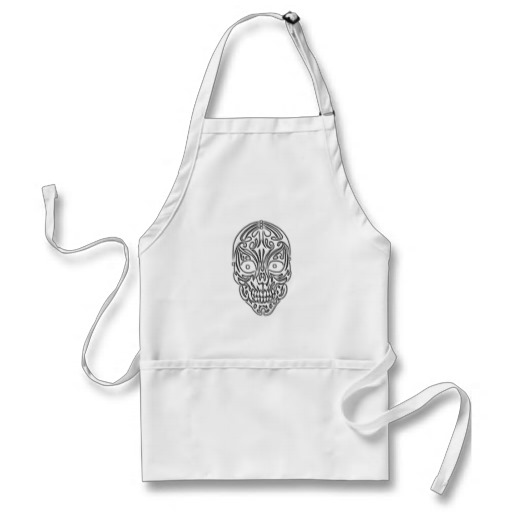 Tribal Skull Adult Apron