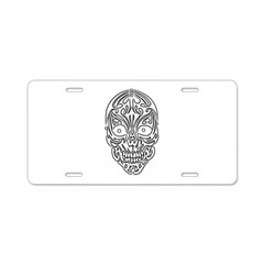Tribal Skull Aluminum License Plate
