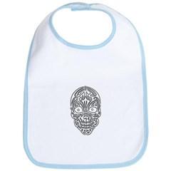 Tribal Skull Baby Bib