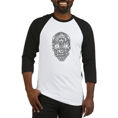 Tribal Skull Baseball Jersey T-Shirt