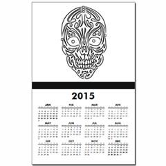Tribal Skull Calendar Print