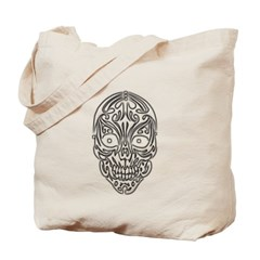 Tribal Skull Canvas Tote Bag