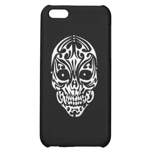 Tribal Skull Case Savvy Matte Finish iPhone 5C Case