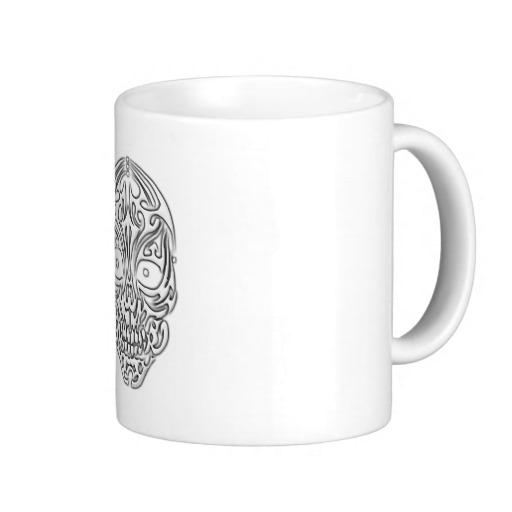 Tribal Skull Classic White Mug