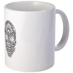 Tribal Skull Coffee Mug