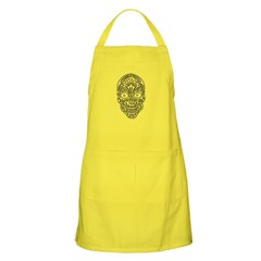 Tribal Skull Dark Apron