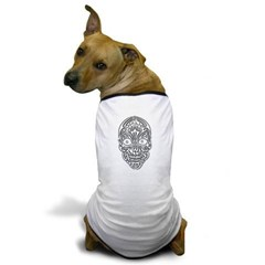 Tribal Skull Dog T-Shirt