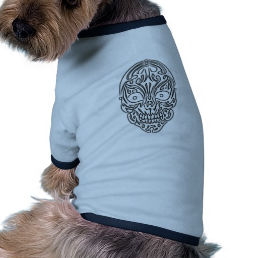 Tribal Skull Doggie Ringer T-Shirt