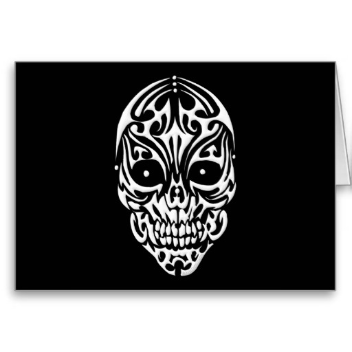 Tribal Skull Greeting Card