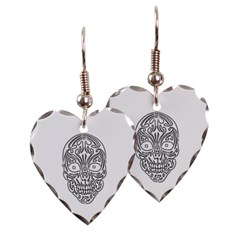 Tribal Skull Heart Earrings