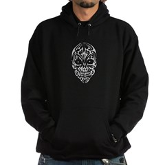 Tribal Skull Hooded Dark Sweatshirt