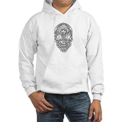 Tribal Skull Hooded Sweatshirt