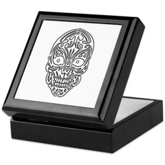 Tribal Skull Keepsake Box