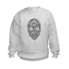 Tribal Skull Kids Crewneck Sweatshirt by Hanes