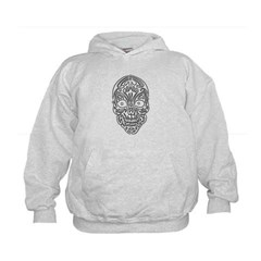 Tribal Skull Kids Sweatshirt by Hanes
