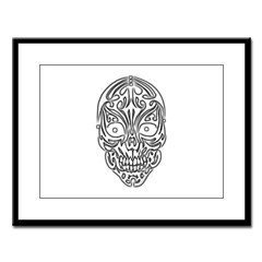 Tribal Skull Large Framed Print