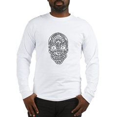 Tribal Skull Long Sleeve T-Shirt