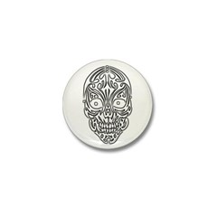 Tribal Skull Mini Button