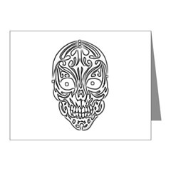 Tribal Skull Note Cards (Pk of 10)