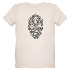 Tribal Skull Organic Kids T-Shirt