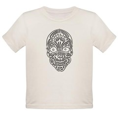 Tribal Skull Organic Toddler T-Shirt