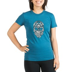 Tribal Skull Organic Women's Fitted Dark Tee