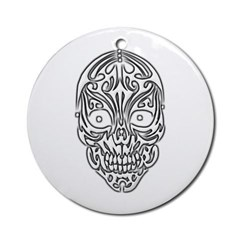 Tribal Skull Ornament (Round)