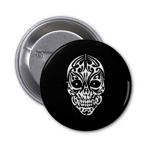 Tribal Skull Pin