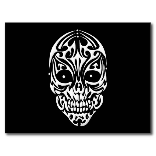 Tribal Skull Postcard