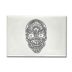 Tribal Skull Rectangle Magnet