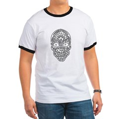 Tribal Skull Ringer T-Shirt