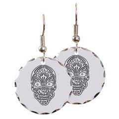 Tribal Skull Round Earrings
