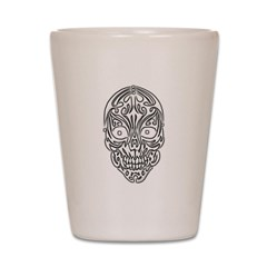 Tribal Skull Shot Glass