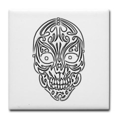 Tribal Skull Tile Coaster