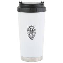 Tribal Skull Travel Mug