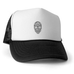 Tribal Skull Trucker Hat