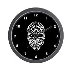 Tribal Skull Wall Clock