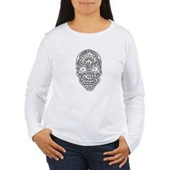 Tribal Skull Women's Long Sleeve T-Shirt