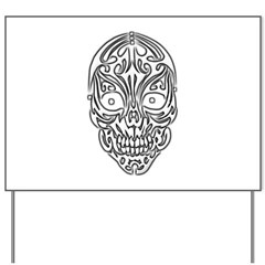 Tribal Skull Yard Sign