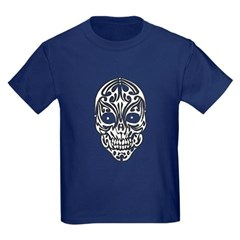 Tribal Skull Youth Dark T-Shirt by Hanes