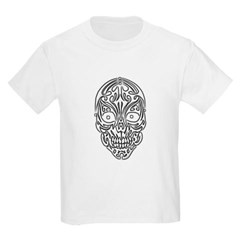 Tribal Skull Youth T-Shirt by Hanes