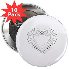 "Heart of Daggers 2.25"" Button (10 pack)"