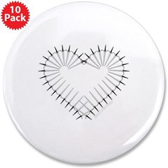 "Heart of Daggers 3.5"" Button (10 pack)"
