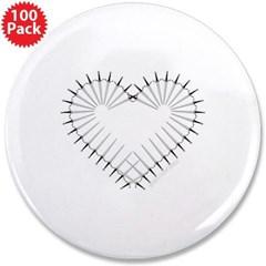 "Heart of Daggers 3.5"" Button (100 pack)"