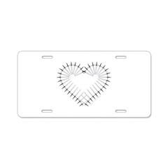 Heart of Daggers Aluminum License Plate