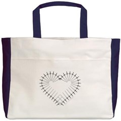 Heart of Daggers Beach Tote Bag