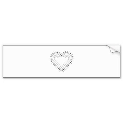 Heart of Daggers Bumper Sticker