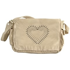 Heart of Daggers Canvas Messenger Bag