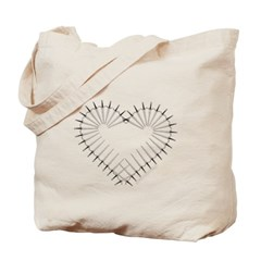 Heart of Daggers Canvas Tote Bag